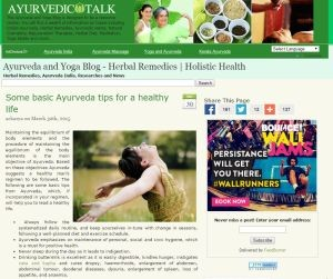 Ayurvedic Talk Yoga Blog