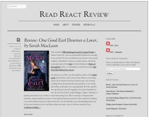 Read React Review Blogger