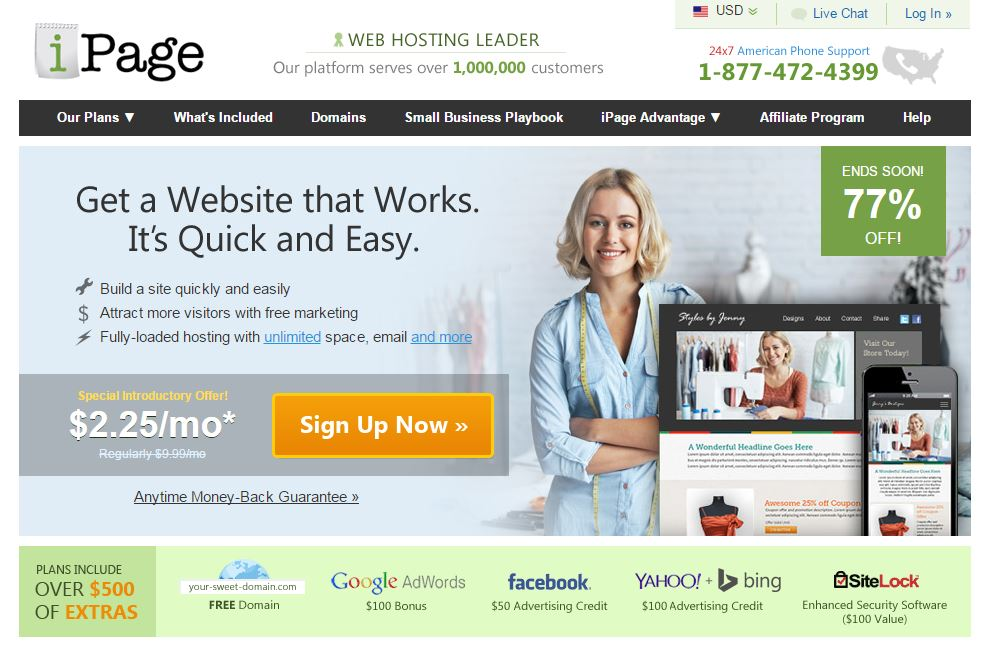 iPage Sign-up