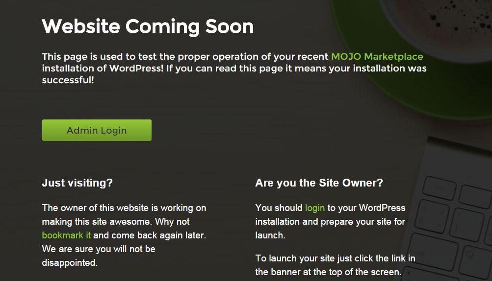 Website Confirmation
