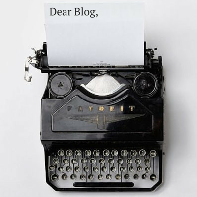 Typing a Blog