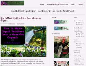 North Coast Gardening Blog