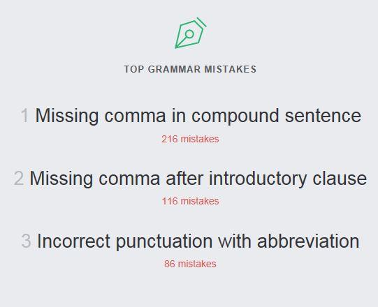 Top Grammar Mistakes