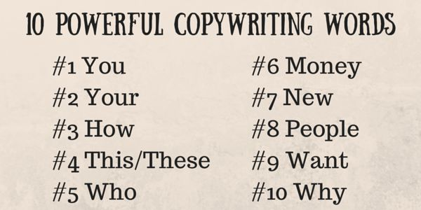 10 Powerful Copywriting Words