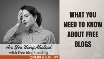 Are you being mislead with free blogs