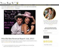 Miss Bizi Bee Income Report