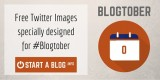 Free Twitter Images specially designed for Blogtober