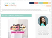 Just a Girl and Her Blog Income Report