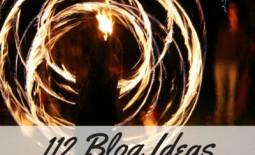 112 Blog Ideas