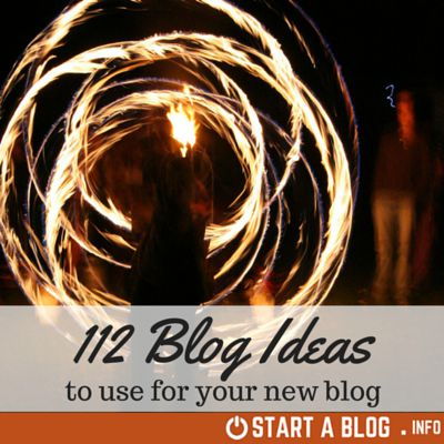112 Blog Ideas