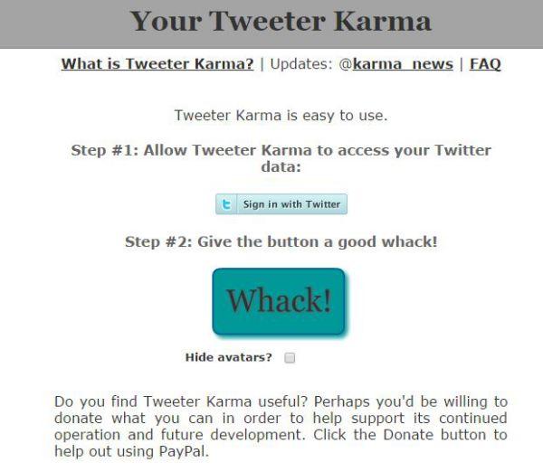 Tweeter Karma