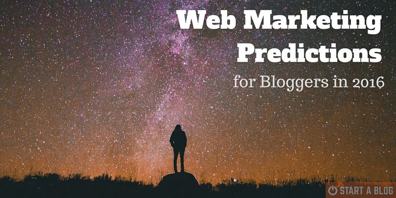 Web Marketing Predictions for Bloggers in 2016
