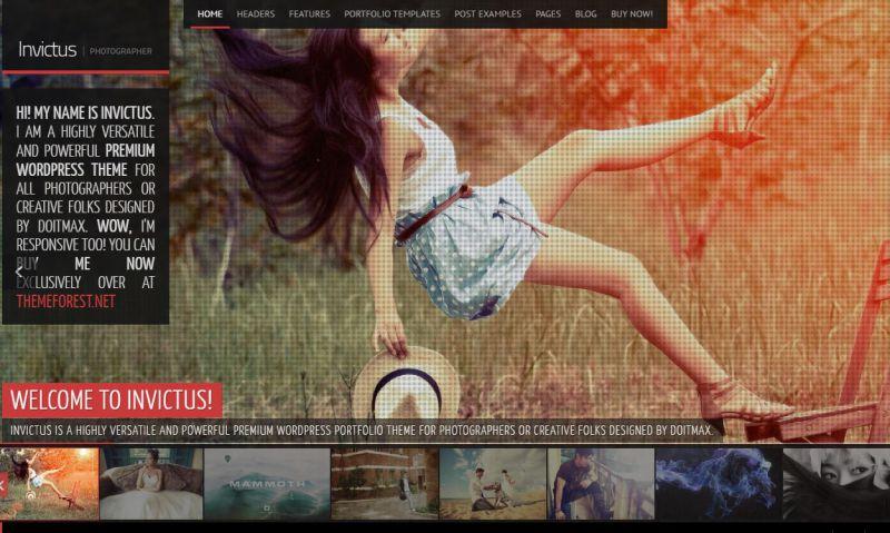 Invictus Premium WordPress Theme