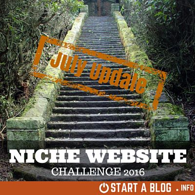 Niche Website Challenge July Update