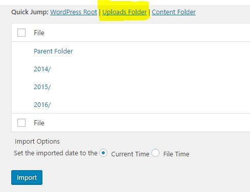 WordPress Image Upload Folder